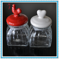 680ml Glass Cookie Jar Glass Storage Container with Ceramic Lid