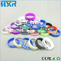 Fashionable decorative and protection e cig mod resistance rubber and silicon vape band