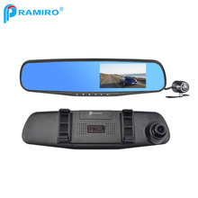 Best video camera L854X car mirror recorder dvr hd car rear view mirror with dual lens