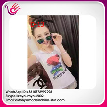 China supplier fashion design customized ready stock brand t-shirt