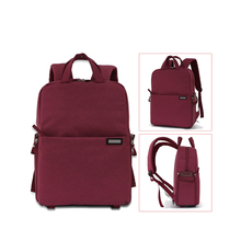 Compartment Camera Backpack for Digital Camera Lens Case DSLR SLR Laptop Bag