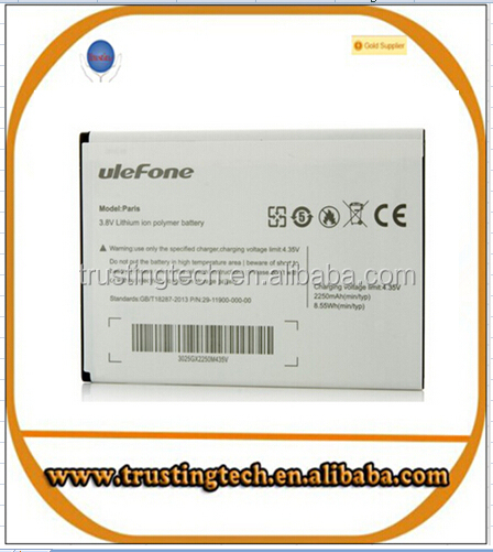 Ulefone Paris Battery 2250mAh Original New Replacement accessory accumulators For Ulefone Paris X Cell Phone