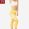 OEM Low Price 3/4 women leggings shiny breathable fitness yoga pants