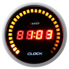 52mm red LED digital clock for tuning -with 30 outer LED lights/ 24 hour mode