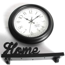 old fashion home decorative shelf and wall clock