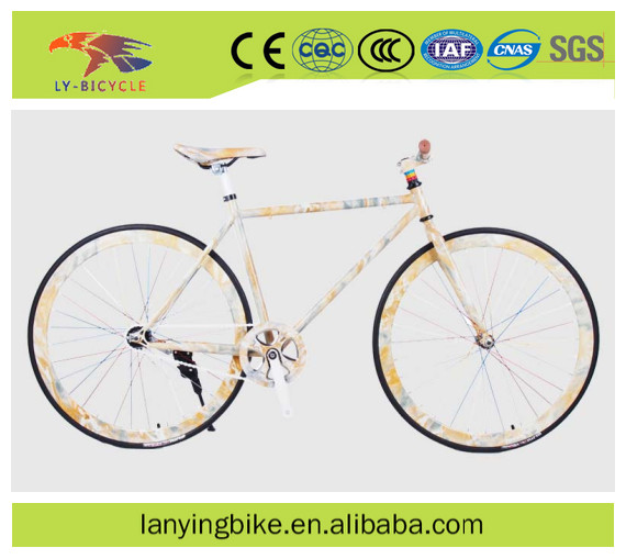 700C fixed gear bicycle glow in the dark