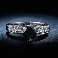 Platinum filled rings Crystal fashion jewelry 30% White Gold plated rings AAA cz Diamond women wedding bijou gem jewel LSR243