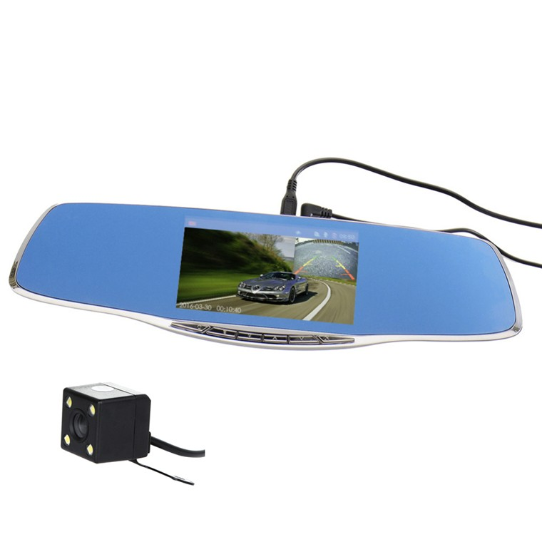 New Car Dvr Camera 5 Inch Mirror Digital Video Recorder Dual Lens Dvr Car Camcorder