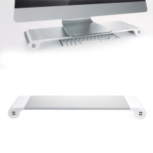 New Arrival Monitor Stand holder Space Bar Desk Organizer with 4 USB Ports