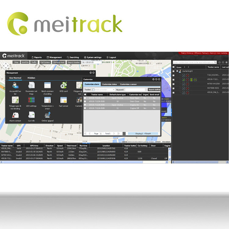 Meitrack project planning software GPS Tracking Platform for asset tracking Customization accepted MS03