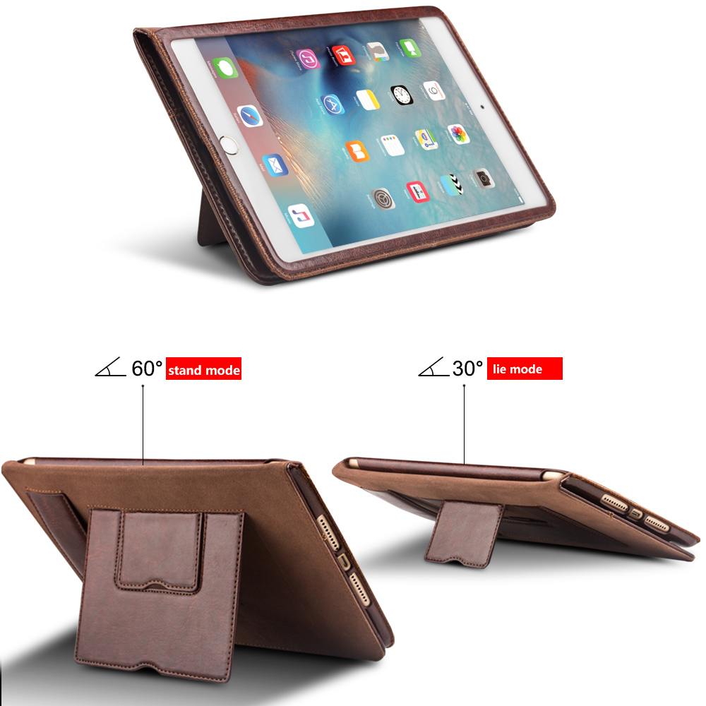 QIALINO Hot Sale Premium Luxury Leather Stand Case For iPad mini 4