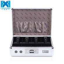 Hot selling lockable cash drawer box silver metal cash box for home and office