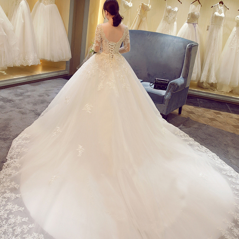 WTS71 2017 Hot sale elegant ball gown lace wedding dress bridal gown