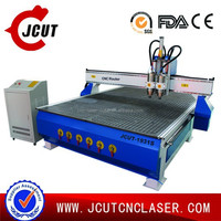 cnc shoes mould making JCUT-1931S(pneumatic tool change two heads)