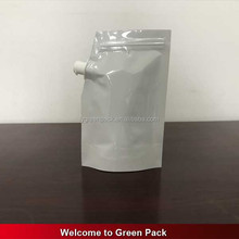 Flexible Packaging Bags, Foil Stand Up Ketup Pouches With Corner Spout