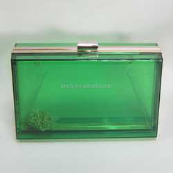 different colors transparent acrylic clutch bag clear party clutches