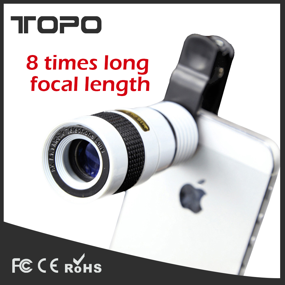 Universal Ultra clear mini 8X zoom telescope lens for smartphone mobile phone monocular telescope