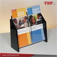Hot selling 2 pockets acrylic brochure display stand