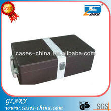 New arrival popular 2 bottle pu leather wine box/wine case