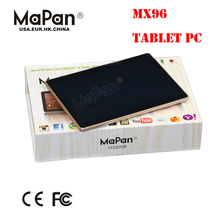 MX96 9 inch 2GB/16GB Quad Core Entertainment Tablet PC,3G/wifi/BT/FM high quality with reasonable price tablet computer in china