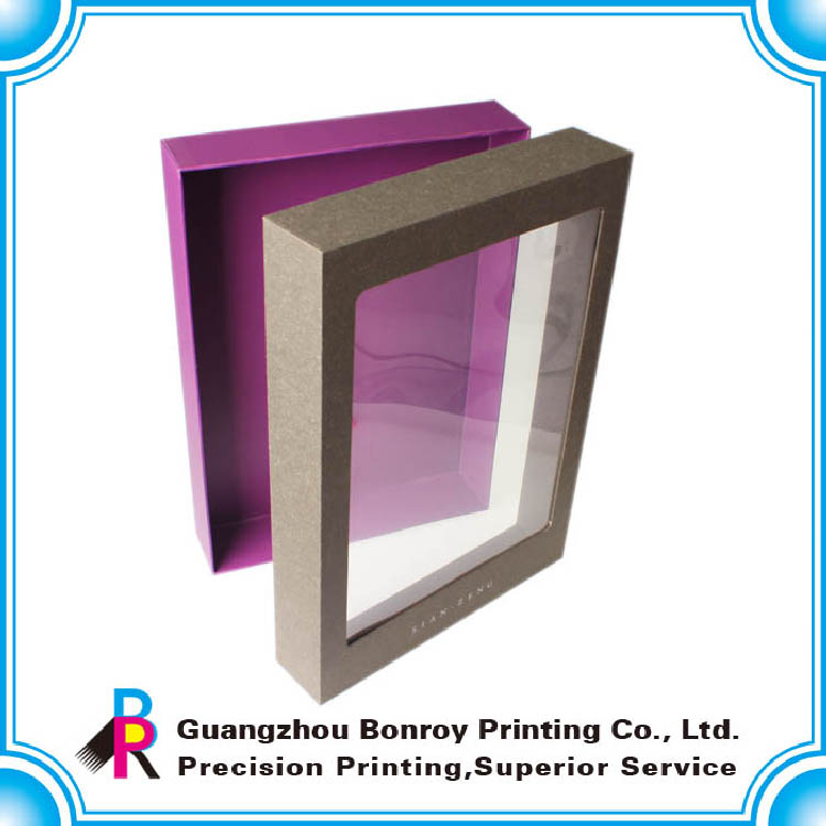 Guangzhou customized printing gift packgaing box with PVC window