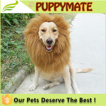 Wholesale Pet Fancy Dress Up Costume Cat Halloween Clothes Lion Mane Wig for Large Dogs