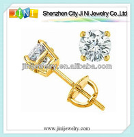 stud diamond earrings screw back