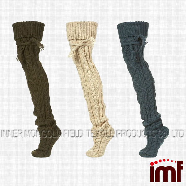 Must Have Multi Color Cable Knit Boot Sock