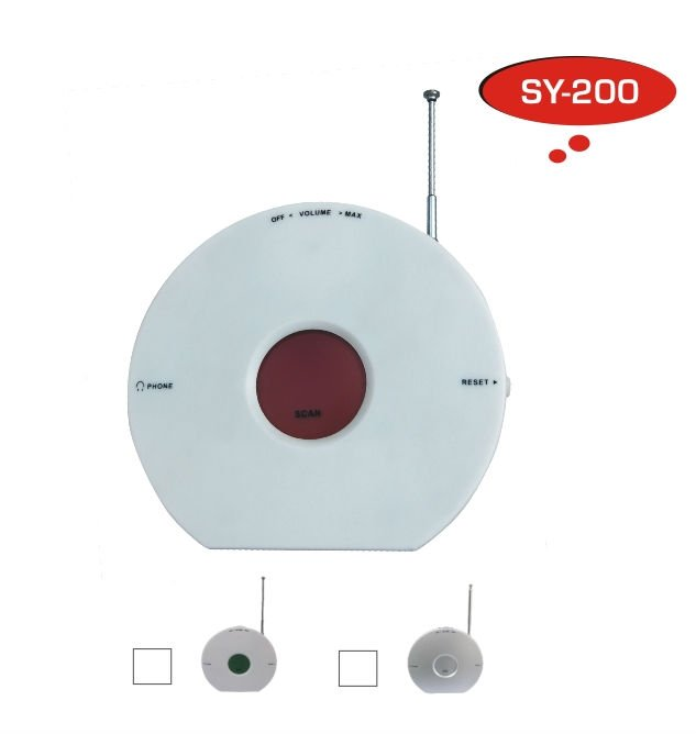 SY-200 Portable CD shaped radio with red backlight