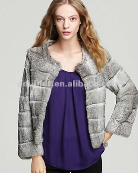 #2001 Genuine Rabbit Fur Long Sleeve Jacket, Women's