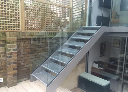 Prefab Steel Outdoor Stair For Sale