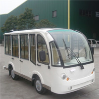 CE approved 11 seater cheap electric shuttle bus with aluminum hard door for sale wholesale and retail JN6118KBF
