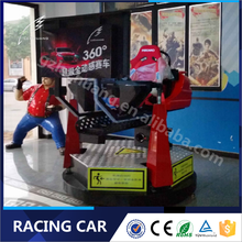 Lechuang Dynamic Seats 360 Degree Racing Car Simulator Racing Video Game Machine With Coin Operated