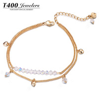 T400 Hot Sale Fashion Jewelry Superb Anklet Made with Swarovski Elements #3576