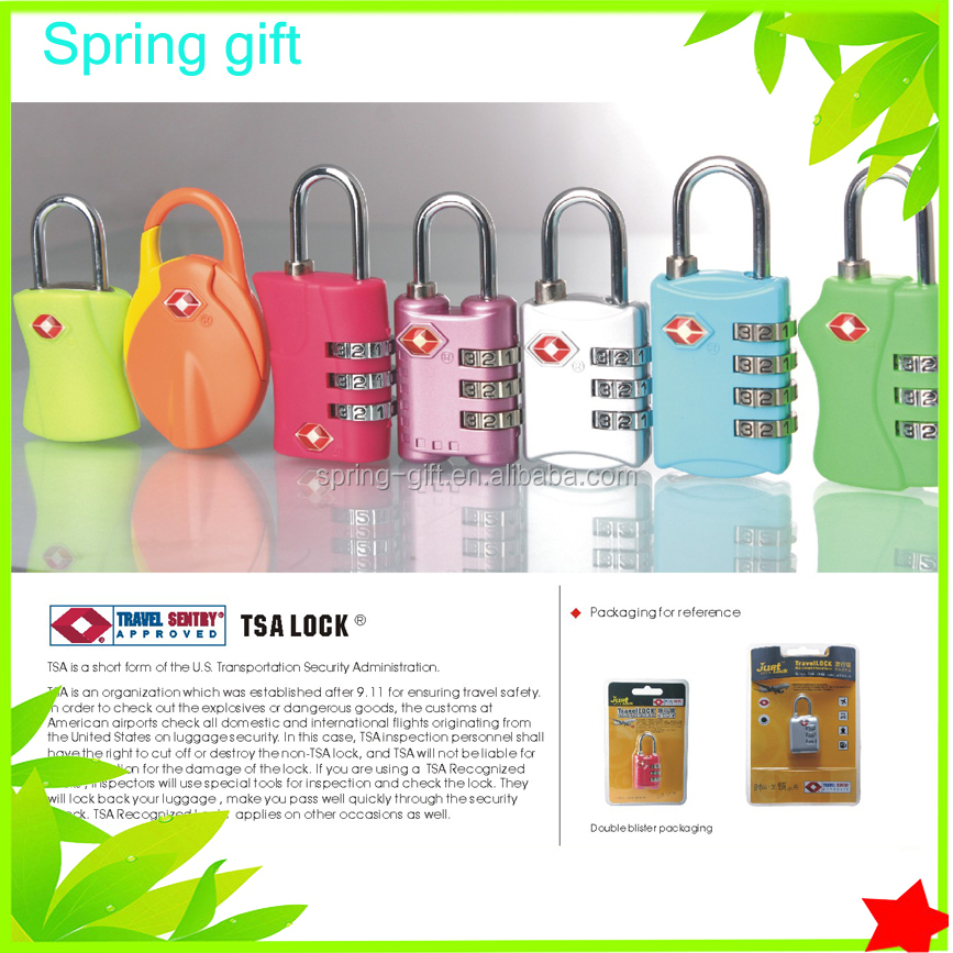 Quality Travel Luggage Cable Lock Combination TSA Lock