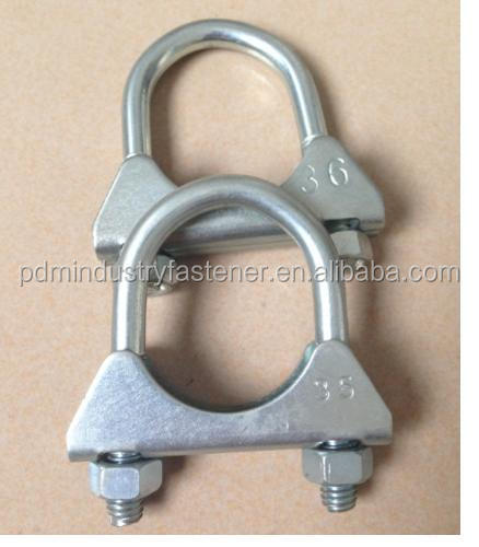 auto exhaust pipe clamps - U Clamps