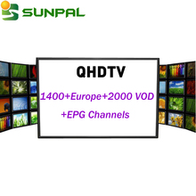 Arabic IPTV Channel Free movie QHDTV IPTV subscription 1 Year Reseller with MAG 250 QHDTV Enigma 2 Linux 4k tv box Receiver