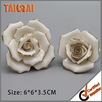 Ceramic Handpainted Flower For Grave Decoration