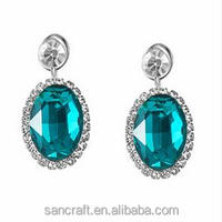 Fine jewelry crystal girl's women's party hanging Wedding earring