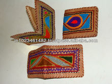 Natural handmade leather mens wallet