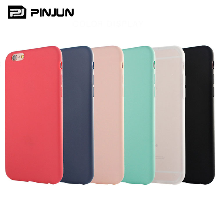 Ultra-thin matte tpu cellphone case for iphone 6 covers tpu silicon colors designs