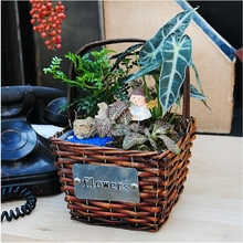 Affordable wicker synthetic rattan park used outdoor planter garden flower pot price
