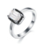 Fashion 925 Silver Jewelry Finger Rings White Big Cz Solitaire Engagement Wedding Ring