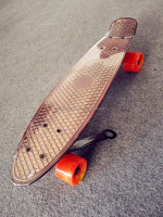 cruiser electroplating fish skateboard cruiser 22 limit board street board
