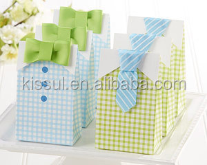 "New Arrival Wedding Candy boxes ""My Little Man"" Candy Bags"