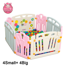 2017 New plastic Outside Indoor Folding Baby Playpen, Round or Square Luxury Baby Playpen High Quality Baby Products