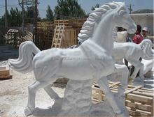 White Marble horse Statues Carving white stone sculptures