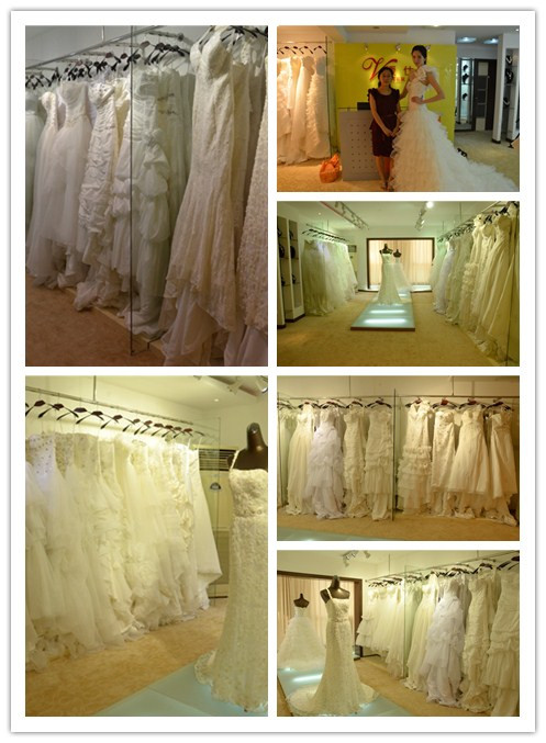wedding dress factory Wholesale price strapless organza beaded ball gowns cheap bridal gowns AS014