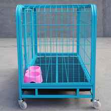 heavy duty galvanized welded wire mesh dog cage dog crate with wheel