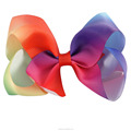 4 Inch Girls Boutique Rainbow Bows With Clips In Wholesale BH1437-X